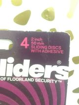 Magic Sliders 4 pack  2 In. Discs Self Adhesive Furniture Glide (SEALED)STORE image 3