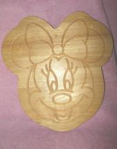 Disney Large Embossed Solid Oak Minnie Mouse Cuting Board Cute! - $38.99