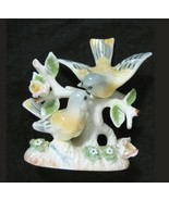 VTG Oriole Figurine Love Birds Pair Flowers Ardalt Japan Bone China Porc... - $14.80