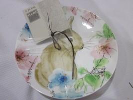 222 FIFTH Bastia Easter Bunny Rabbit Appetizer Plates Set of 4 - $27.71