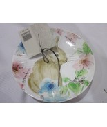 222 FIFTH Bastia Easter Bunny Rabbit Appetizer Plates Set of 4 - $27.71