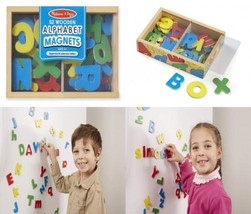 Melissa & Doug 52 Wooden Alphabet Magnets in a Box - Uppercase and Lowercase...  - $18.51