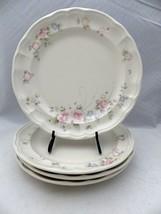 "Pfaltzgraff Tea Rose pattern - set/lot of 4 large Dinner plates - 10 3/8"" - EUC - $19.31"