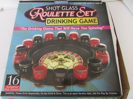 SHOT GLASS ROULETTE SET DRINKING GAME AGES 21 & UP KOLE IMPORTS GENTLY USED - $9.85