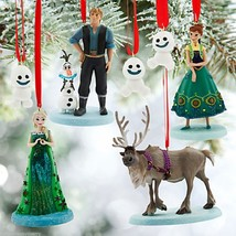 Disney Store Frozen Fever Ornament Set Anna Elsa Olaf Sevn Kristoff New ... - €179,50 EUR