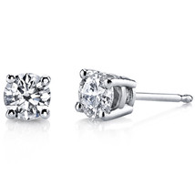 14K White Gold 0.42 Carats Diamond Earrings - $489.99