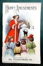 1905 antique HOME AMUSEMENT,MAGIC,GAMES,RECIPE fleischmann yeast party v... - $47.50