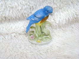 Decorative Ceramic Perched Bluebird Figurine Unmarked, Collectible Home ... - $8.99