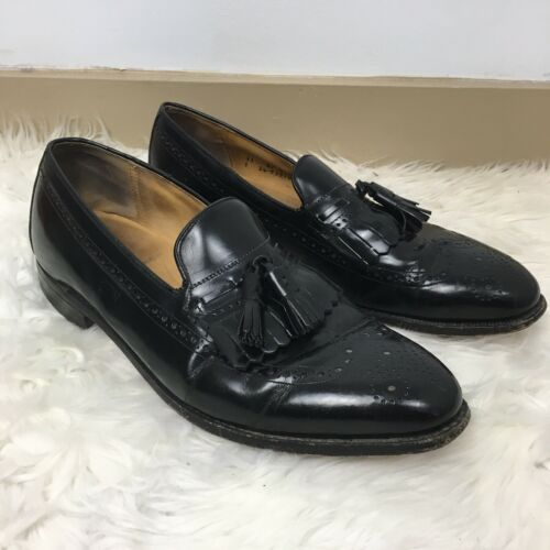 Johnston & Murphy Limited Collection Men's Black Wingtip Oxford Shoes Size 11 - $35.63