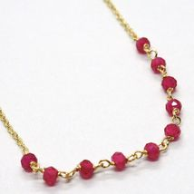 18K YELLOW GOLD ROSARY BRACELET, FACETED RED RUBY ROOT, CROSS & MIRACULOUS MEDAL image 5