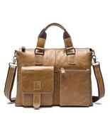 BDF 2017 Men messenger bag genuine leather briefcase fashion designer Bu... - $116.63