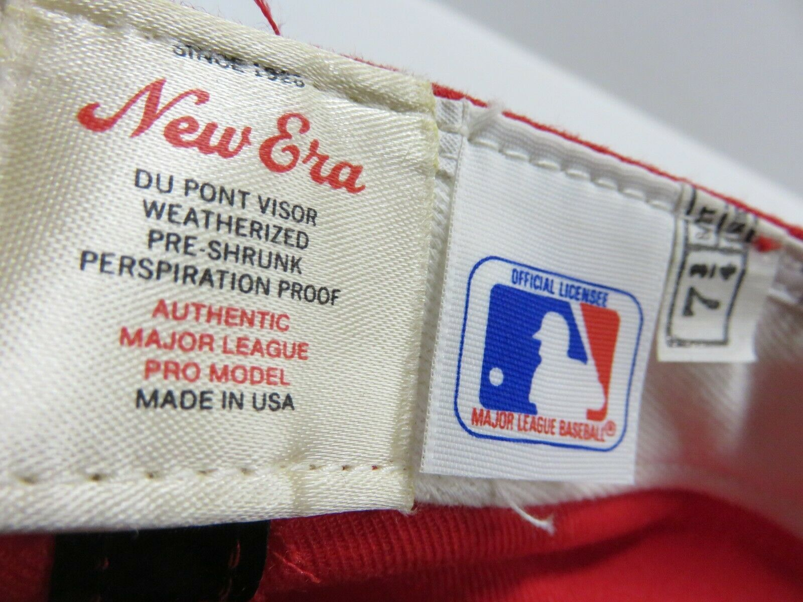 VTG New Era St.Louis Cardinals MLB Baseball Fitted Hat Adult Size 7 3/4 USA Made image 5