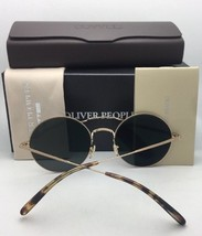 New Oliver Peoples Sunglasses Nickol Ov 1214-S 52718E Rust & Gold w/ Olive Fade - $339.95