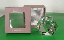 Rosenthal FACETED Crystal Votive Candle Holder Signed EUC with Original Box - $49.45