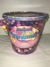 Lisa Frank Bead Dreams Kit Crafts 1200 Beads Angel Kitty Lid Full Bucket - $14.01