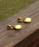 Vintage Crown Trifari Yellow Apple Dangle Waterfall Earrings - $25.00