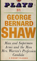 Plays By George Bernard Shaw,Man & Superman,Arms & The Man,Mrs Warren's ... - $2.75