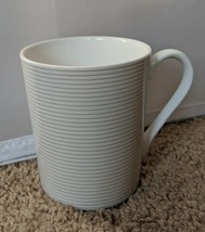 Mikasa Cheers Stripe Coffee Tea Mug Cup White Porcelain 12 oz HK279 - $11.36