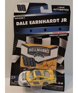 2018 DALE EARNHARDT JR #88 HELLMANN'S NASCAR AUTHENTICS 1:64 W/CARD MAGNET - $9.95