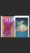 """glass vase approximately 8"""" x 5"""" with bag Of Citrus Potpourri  - $49.99"""