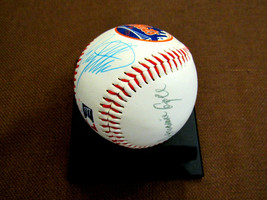 RUSTY STAUB TOMMY AGEE 1969 WSC NY MET'S SIGNED AUTO VTG METS LOGO BASEB... - $247.49