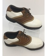 Reebok Golf Shoes DMX Liner White Brown Saddle Oxfords Spikeless Women's... - $14.43