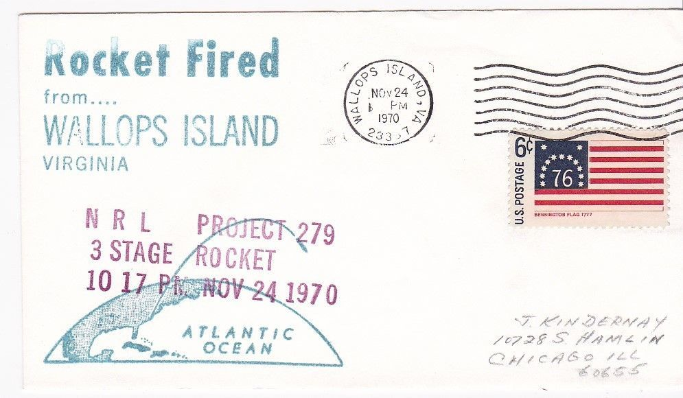 NRL PROJECT 279 3 STAGE ROCKET FIRED WALLOPS ISLAND, VA 11/24/1970