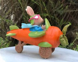New Garden Decor Miniature Fairy Garden ~  easter brown rabbit in carrot... - $20.00