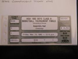 1992 Illinois Boys High School Basketball State Championship Ticket Stub... - $9.49