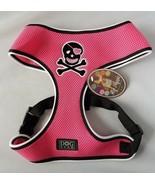 Hip Doggie Dog Harness Vest Pink Skull Breathable High Quality Mesh Pet ... - $23.88