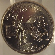 2000-D Virginia State Quarter MS65 in the cello #818 - $1.59