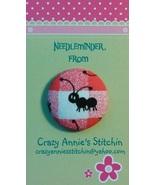 Black Ant Solid (facing left) Needleminder fabric cross stitch needle ac... - $7.00