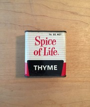 Vintage 70s Spice of Life Thyme tin packaging