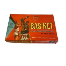 VTG Cadaco 1960's Basket Real Basketball Miniature Multiplayer Sports Board Game - $39.60