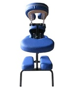 New Blue BestMassage 4ft Portable Massage Chair Tattoo Spa Free Carry Case - $74.88