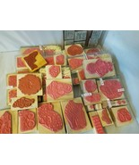 Rubber Ink Stamps Assorted Lot of Misc. Craft Supply Hobby Scrapbooking - $44.49