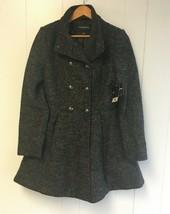 LIZ CLAIBORNE Women's Woolen Jacket Dress Charcoal  Small #J387 - $69.99