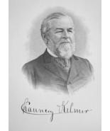 CHAUNCEY KILMER New York Paper Manufacturer - 1895 Portrait Print - $12.60