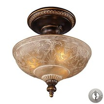 Elk Lighting 08100-AGB-LA Restoration 3 Light Antique Golden Bronze-Includes Ada - $237.88