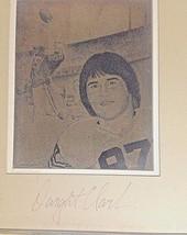 49er Dwight Clark SIGNED brass engraving 'Dwight's Flight' TD wins '82 N... - $142.56