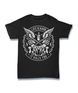 LIFE IS HARD T Shirt AFTER ALL IT KILLS YOU WINGS BONE  S-3XL - $12.67