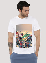 Marvel Comic Book Characters T Shirt graphic white - £8.59 GBP+