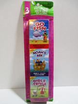 3  Bible Card Games - Go Fish - Noahs Ark - Bible Trivia - Childrens Play - $7.48