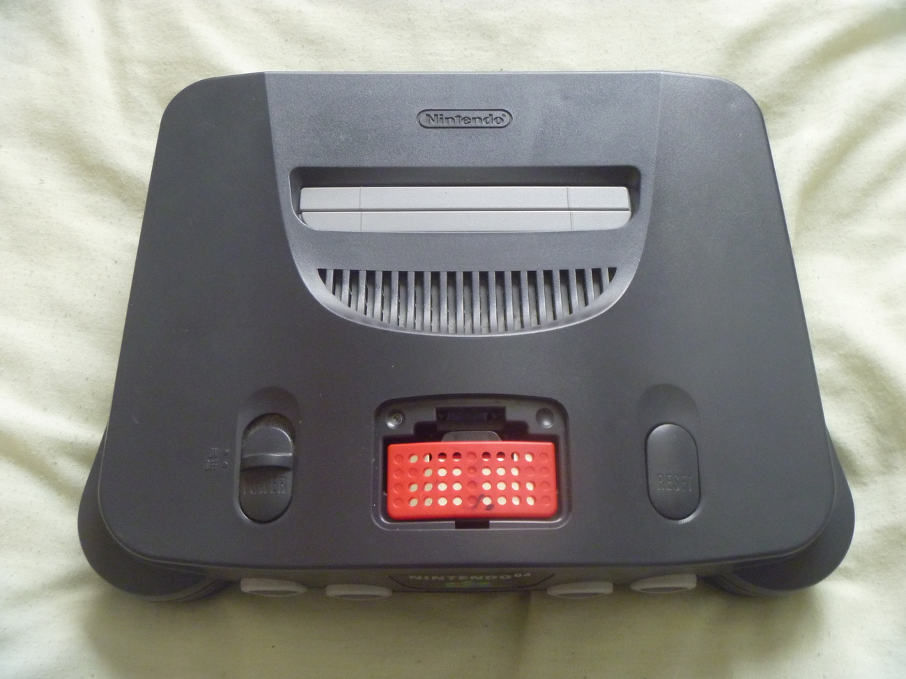 nintendo 64 system with expansion pack 2 controllers 1. Black Bedroom Furniture Sets. Home Design Ideas