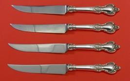 "Delacourt by Lunt Sterling Silver Steak Knife Set 4pc HHWS Custom Made 8 1/2"" - $247.10"