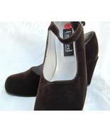 Brown Velvet Shoes - $10.00