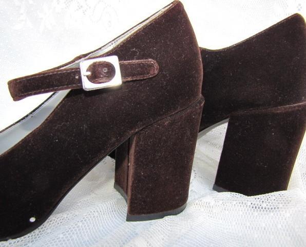 Brown Velvet Shoes
