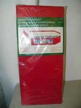 Harvey Lewis Ornament Storage Box Holds 42 Ornaments Red Case 12753 - $14.84