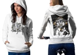 EAT SLEEP FIGHT AND REPEAT Womens White Classic Hoodie - $30.99+