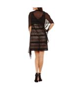 Scarlett Womens Black Nude Geo Print Sleeveless V Neck Dress Size 12 Pet... - $25.79
